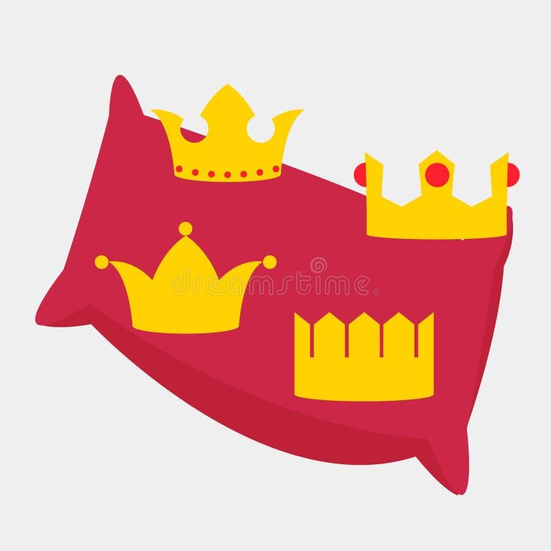 Coronas del oro fijadas stock de ilustración