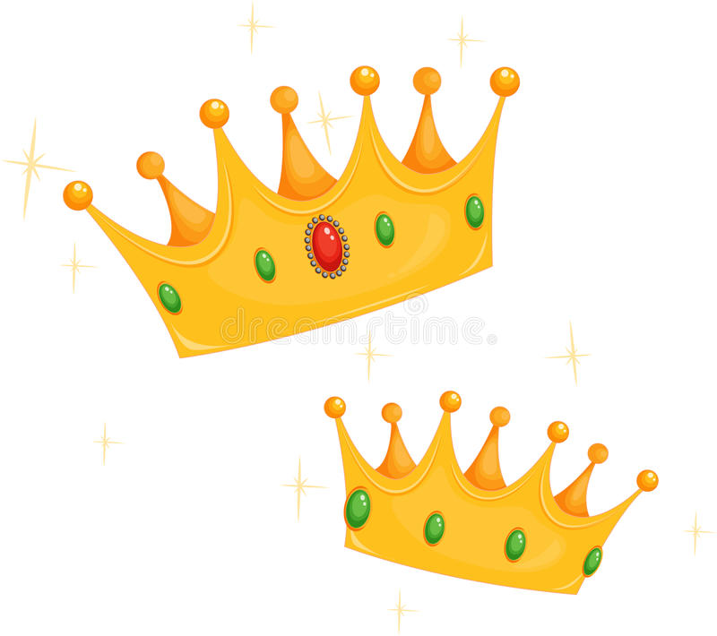 Coronas del rey y de la reina ilustración del vector