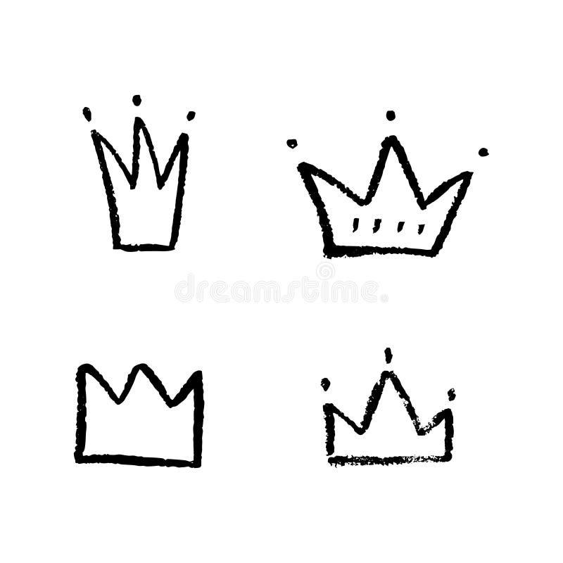 Coronas dibujadas mano libre illustration