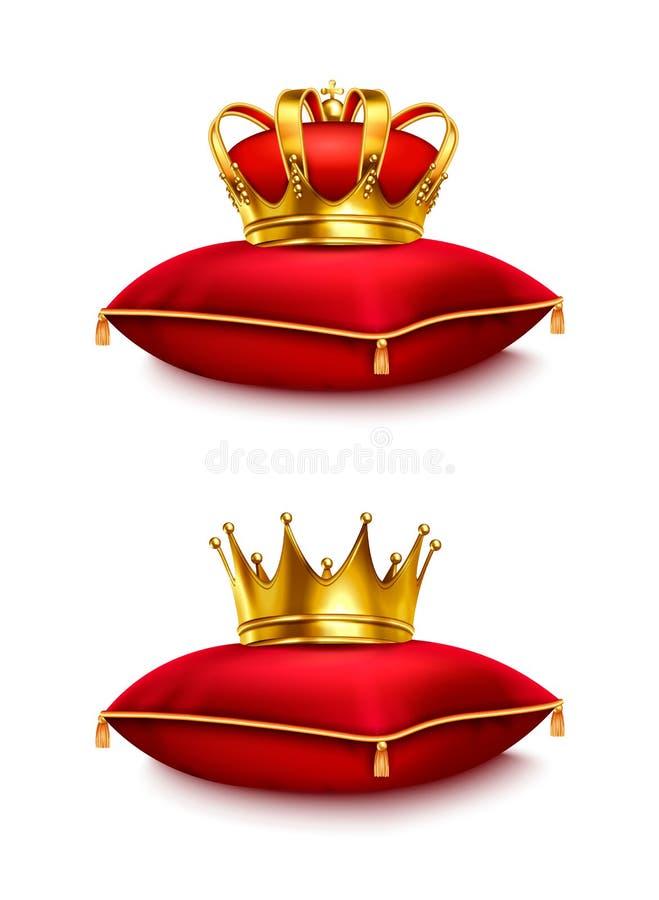 Coronas en sistema realista de la almohada libre illustration