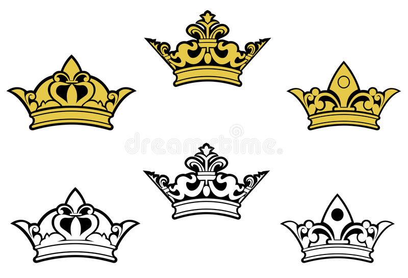 Coronas heráldicas libre illustration