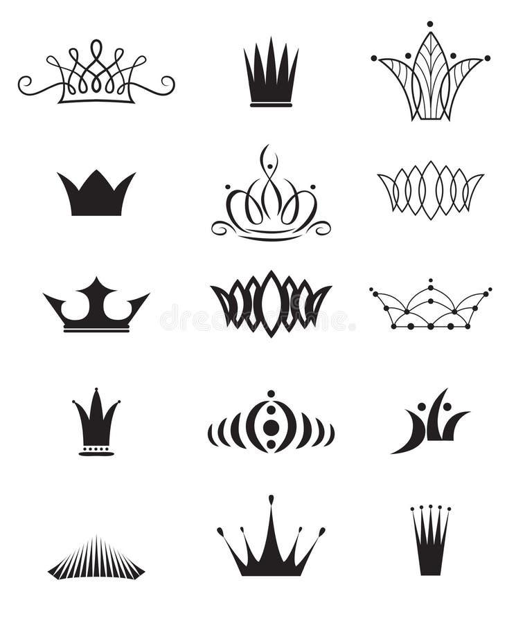 Coronas modernas libre illustration