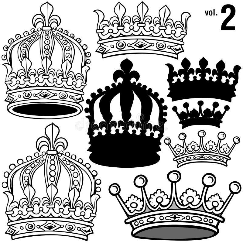 Coronas reales vol.2 ilustración del vector