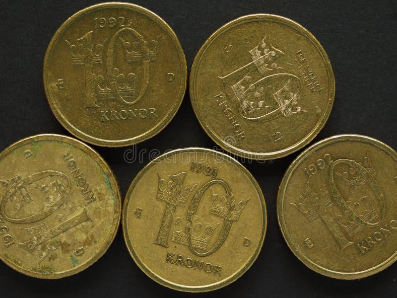 10 coronas suecas y x28; SEK& x29; moneda imagenes de archivo