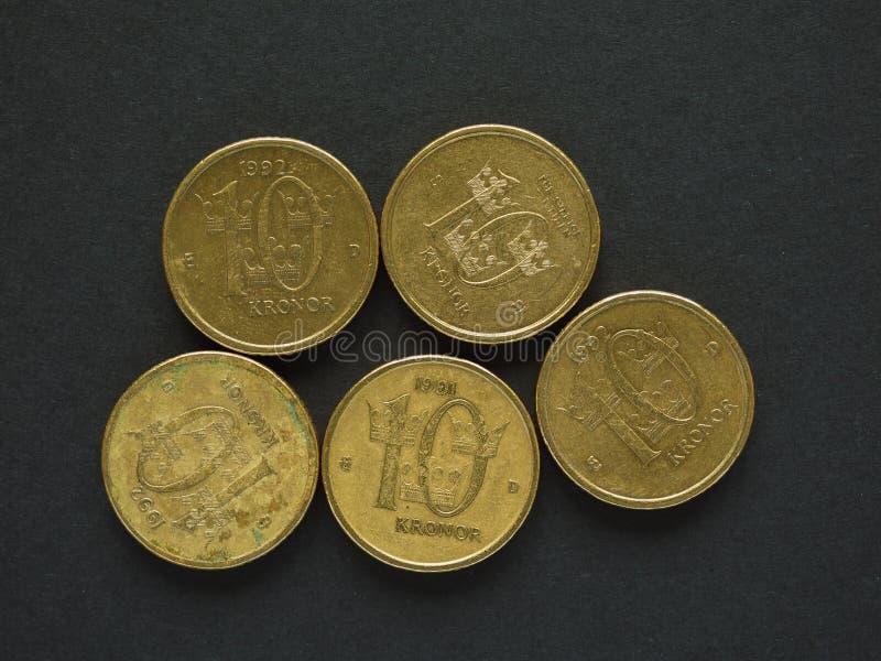 10 coronas suecas y x28; SEK& x29; moneda fotos de archivo