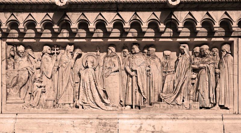 Coronation av St. stephen arkivbild
