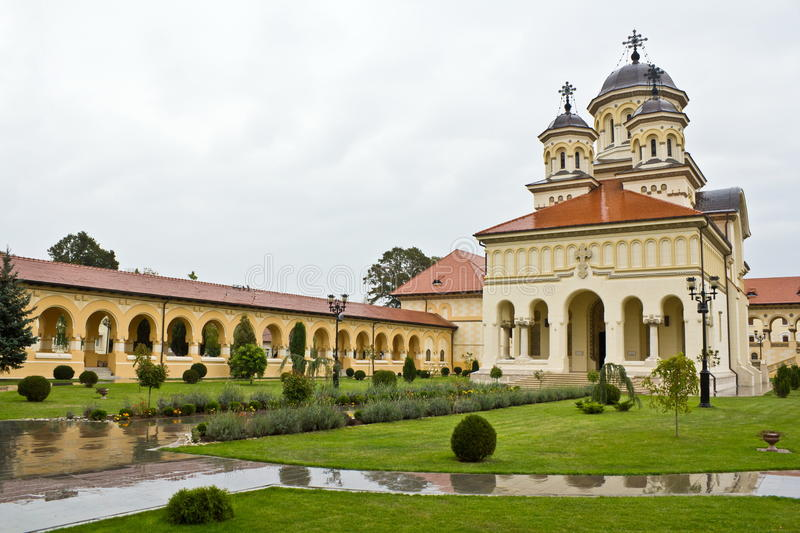 Coronation Cathedral in Alba Iulia. Known as Reunification Cathedral stock photo