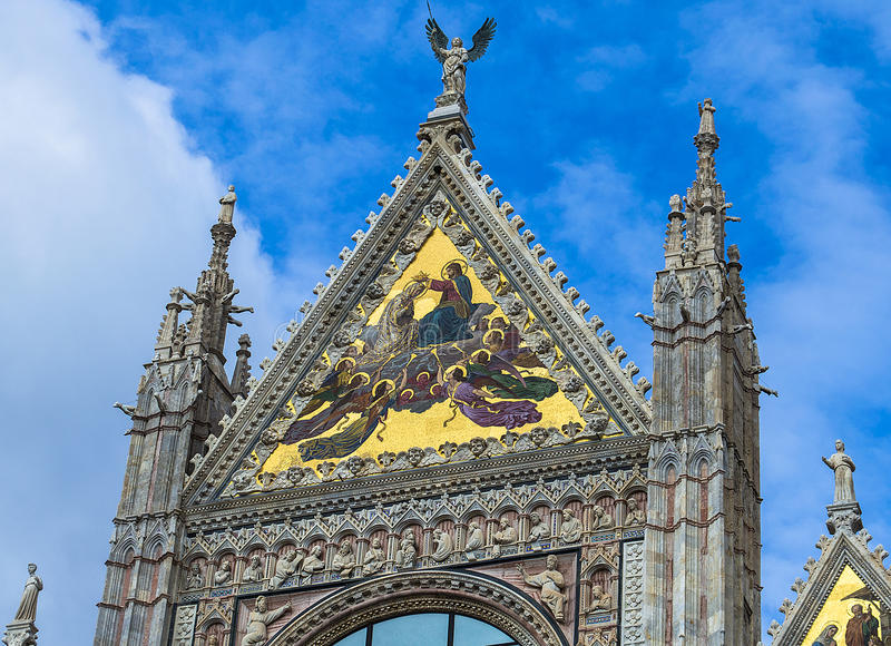 Coronation of the Virgin - Siena Cathedral. Cathedral of Saint Mary of the Assumption in Siena - Tuscany - Italy royalty free stock photography
