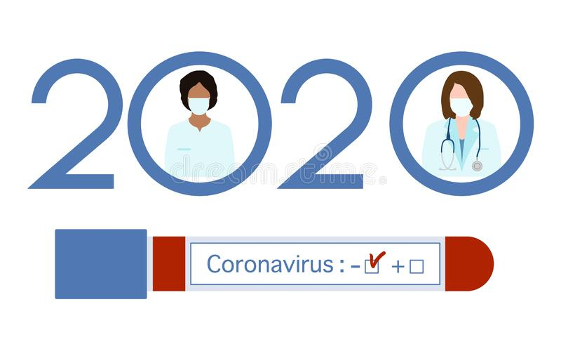 Coronavirus Bluttest Doctor Pandemic 2020 Health stock abbildung