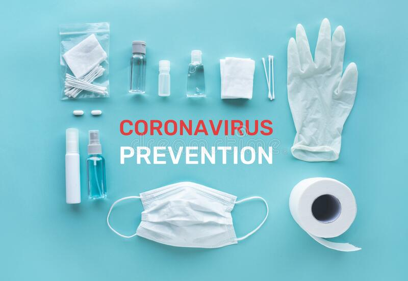 Coronavirus  covid-19  prevention equipment.medical supplies.virus outbreak situation.body health care.washing and cleaning your. Hand.protect yourself.healthy royalty free stock photography