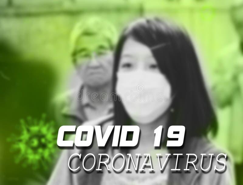 Coronavirus Covid 19 - tekst alertu na całym świecie zdjęcie stock