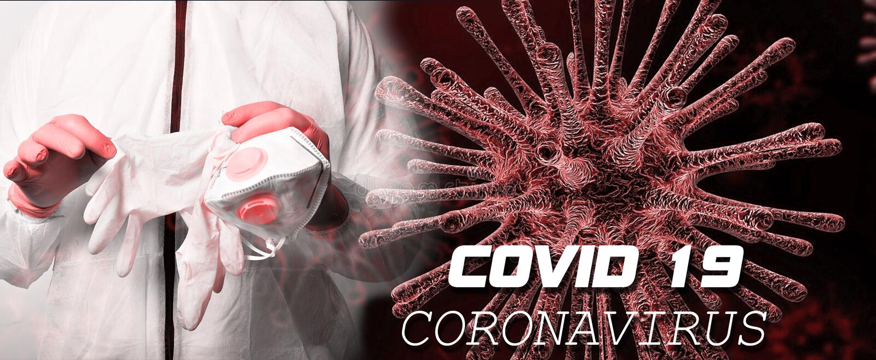 Coronavirus Covid 19 Texto de alerta mundial imagem de stock