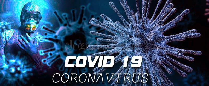 Coronavirus Covid 19 Varningstext för hela världen