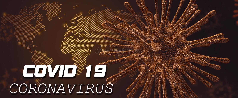 Coronavirus Covid 19 Weltweiter Warntext stockfoto