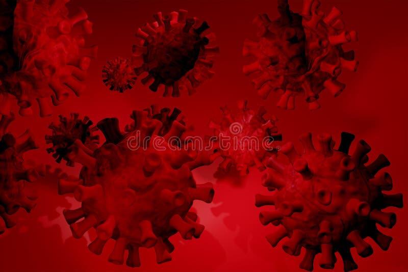 Coronavirus 3D, cepa del coronavirus Covid19, brote pandémico, concepto de propagación del país representación 3D , libre illustration