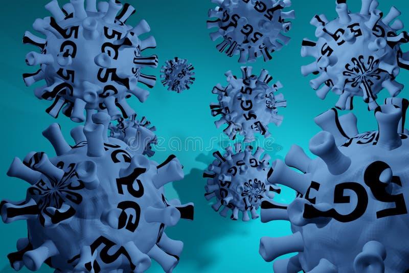 Coronavirus 3D, cepa del coronavirus Covid19, brote pandémico, concepto de propagación del país Representación 3D Infección en to stock de ilustración