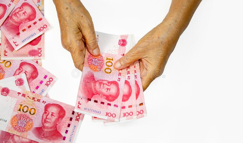 The coronavirus  outbreak is to have an impact on the  chinese household economy stock photo