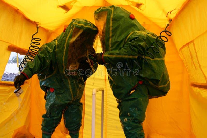 Coronavirus, pandemia britannica, decontaminazione COVID-19 immagine stock