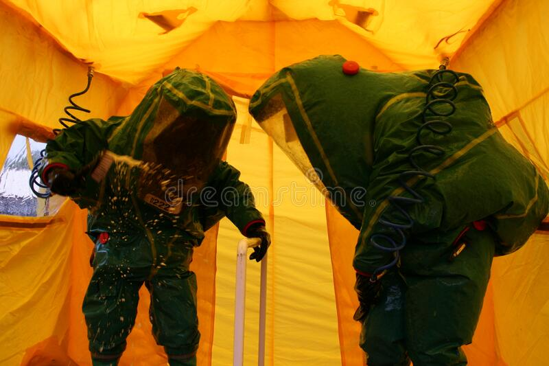 Coronavirus, pandemia w Wielkiej Brytanii, dekontaminacja COVID- 19 obrazy royalty free