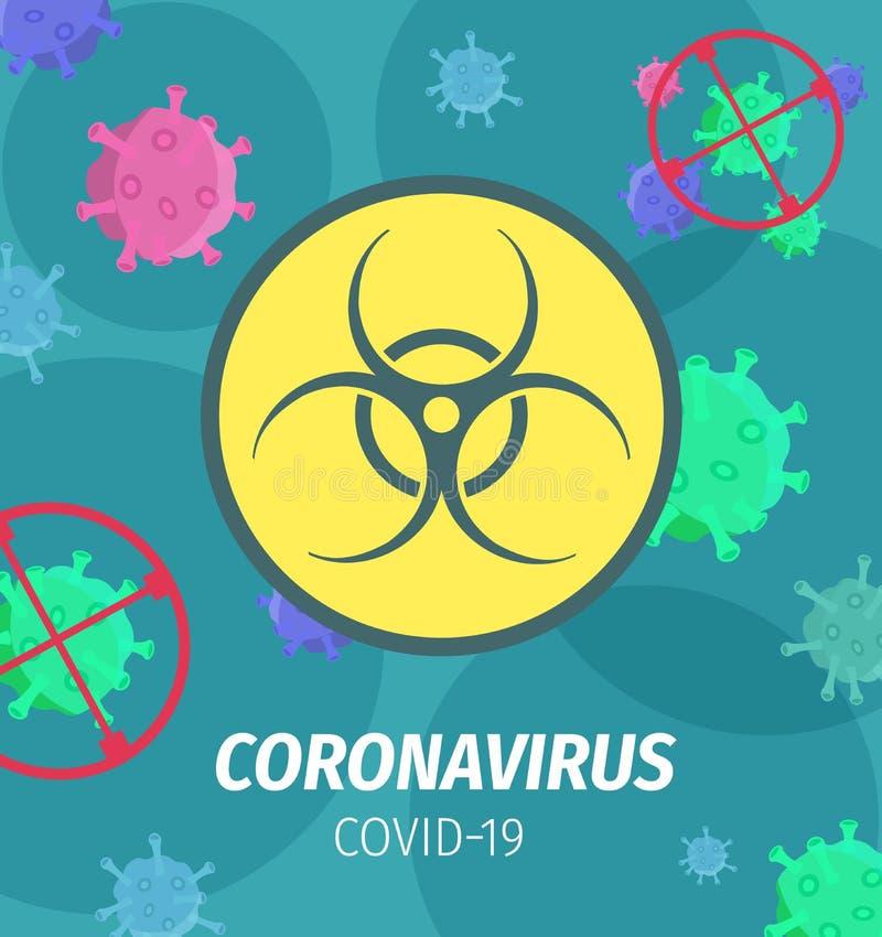 Coronavirus Pandemic Bio-Hazard-Vektor-Poster stock abbildung