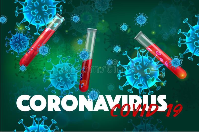 Coronavirus Test Realistic Background royalty free stock photos