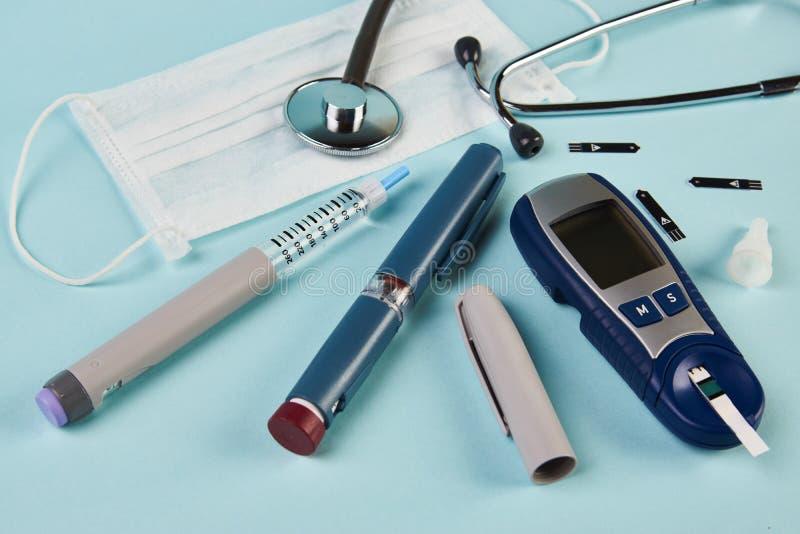 Coronavirus vormt het grootste risico voor diabetes stock fotografie