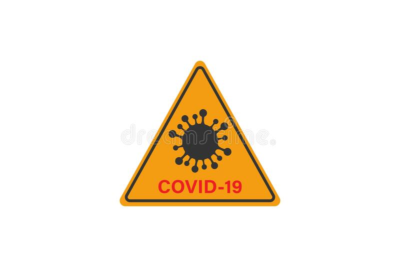 Coronavirus-Zeichen Corona-Virus Bacteria Cell Icon lizenzfreies stockfoto