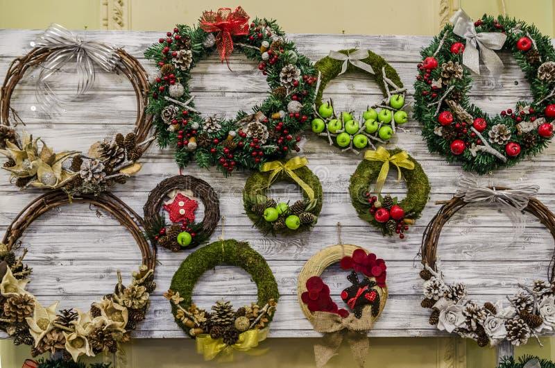 Corone di Natale fotografia stock libera da diritti