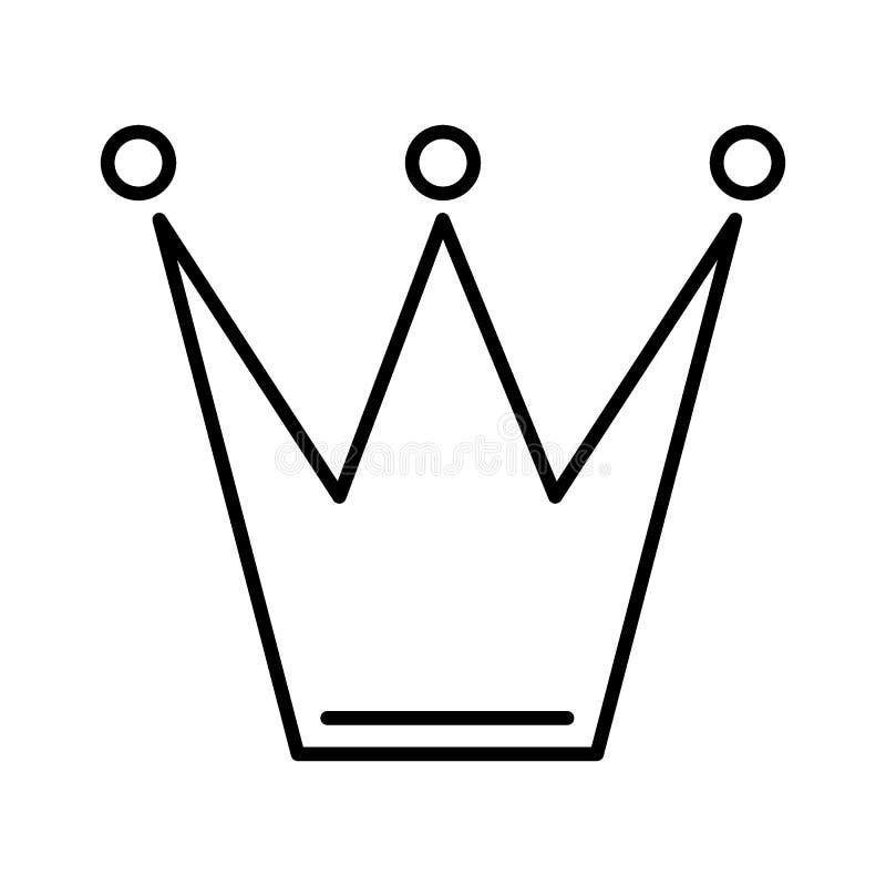 Corone el icono en estilo plano de moda aislado en el fondo blanco Símbolo para su diseño del sitio web, logotipo, app, UI de la  ilustración del vector