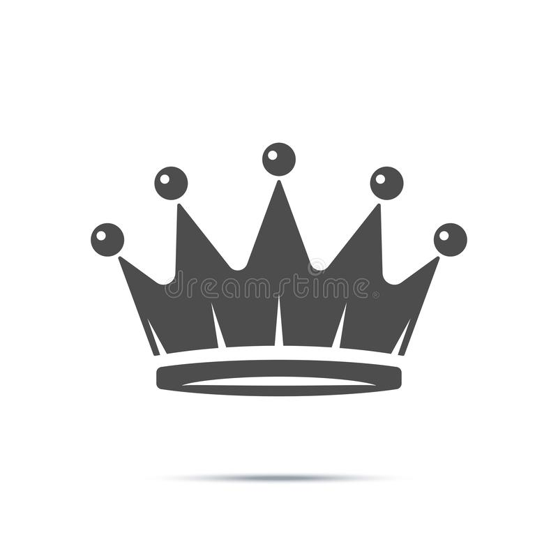 Corone el icono en estilo plano de moda aislado en el fondo blanco Símbolo real para su diseño del sitio web, logotipo, app, UI ilustración del vector