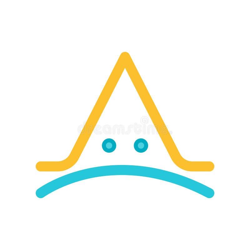 Coroni il vettore dell'icona isolato su fondo bianco, segno della corona illustrazione di stock