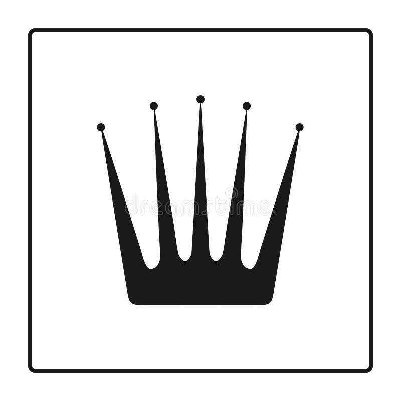 Coroni l'icona nello stile piano d'avanguardia isolata su fondo bianco Il simbolo di lusso della corona e di logo per il vostro s royalty illustrazione gratis