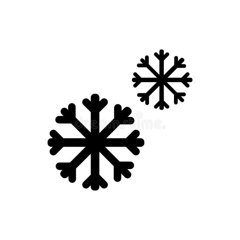 Coror-Knöpfe eingestellt Schneeflockenvektor lokalisiert auf Weiß lizenzfreie abbildung