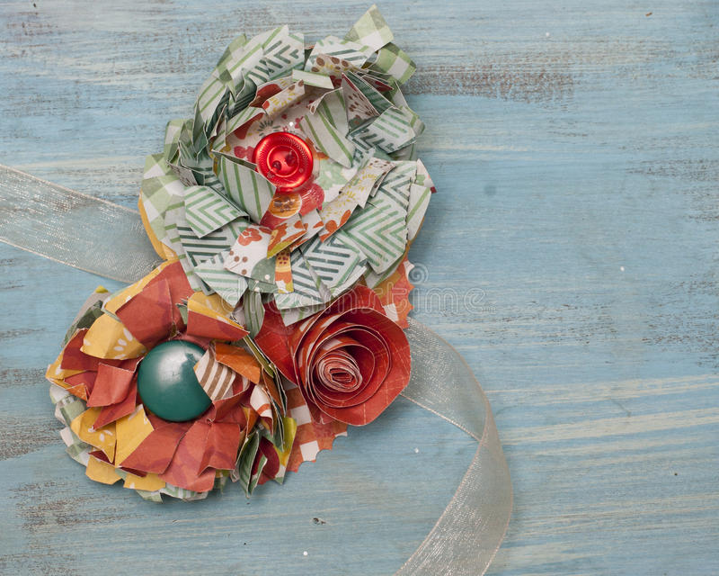 Corpete da flor de papel imagem de stock