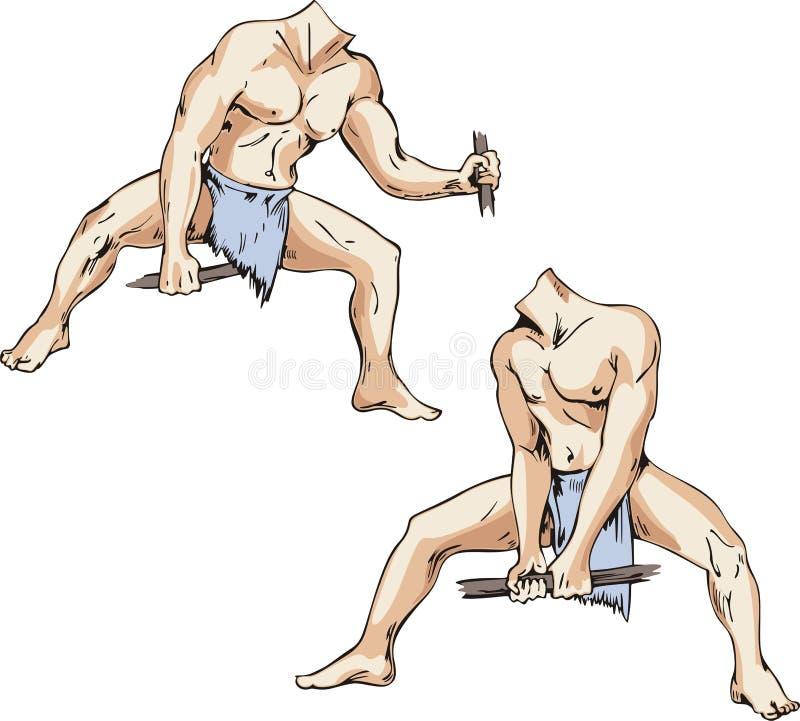 Corpi degli uomini selvaggi illustrazione vettoriale