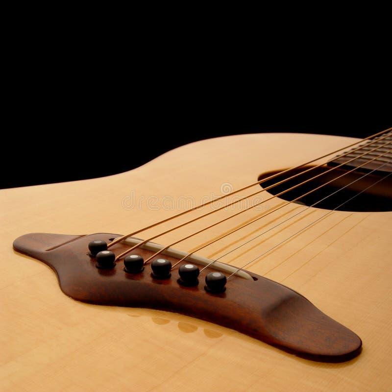 Corpo 1 della chitarra acustica fotografia stock