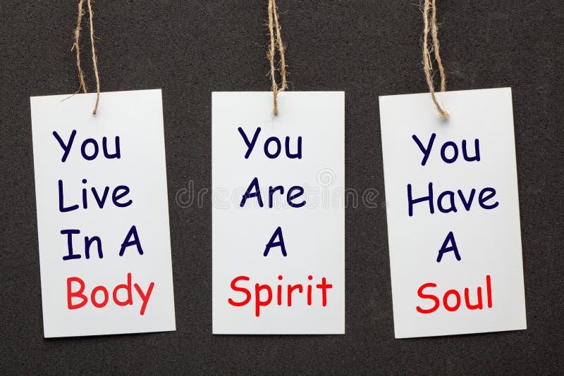Corpo, alma e espírito imagem de stock royalty free