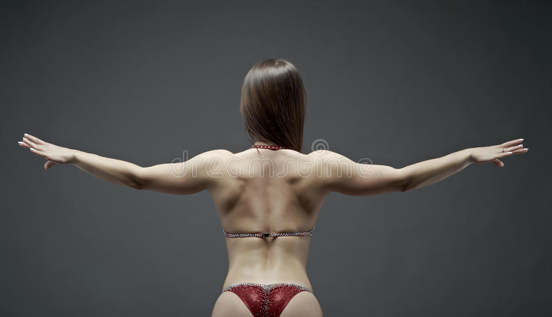 Corpo atlético da mulher imagens de stock