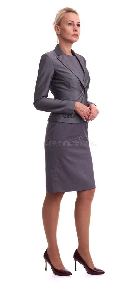 Corpo completo de uma mulher de negócios envelhecida meio foto de stock royalty free