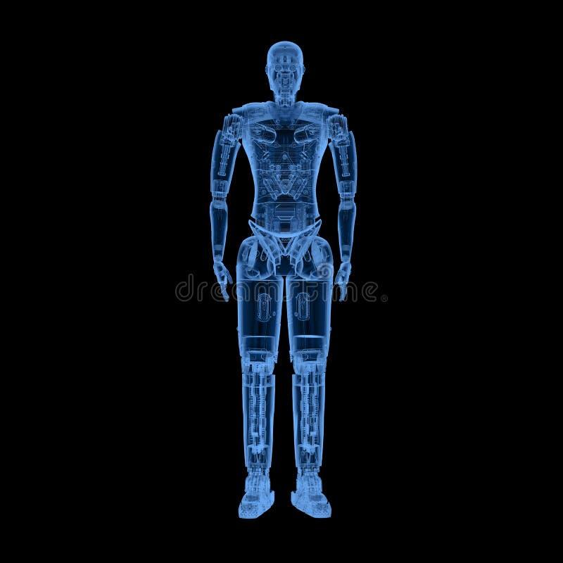Corpo completo do robô do raio X ilustração do vetor