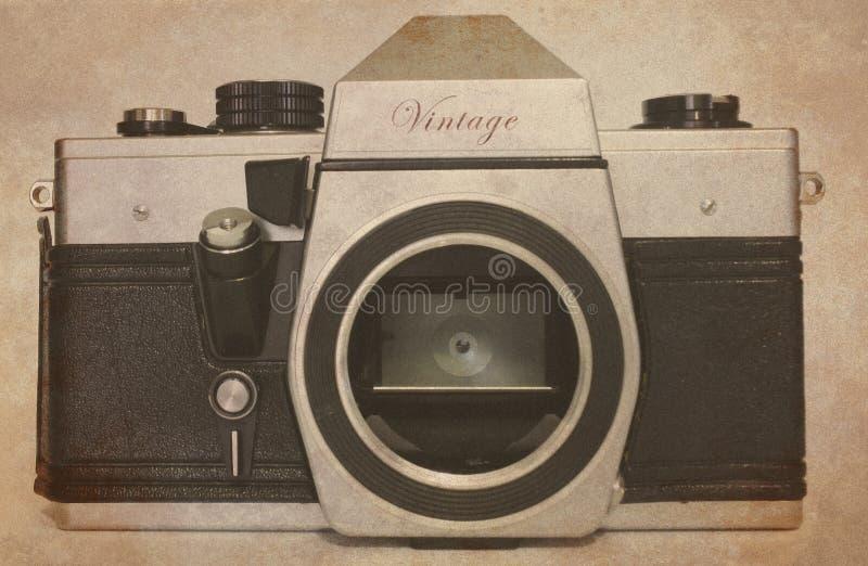 Corpo da câmera do slr do vintage foto de stock