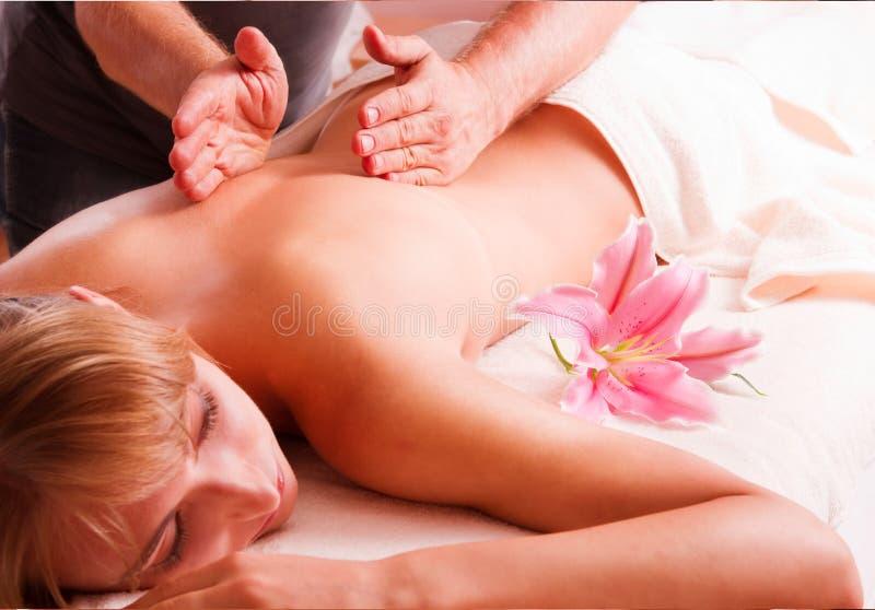 Corpo da massagem imagens de stock
