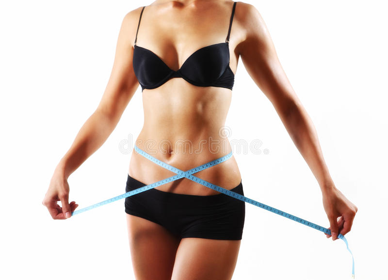 Corpo da mulher da dieta fotos de stock