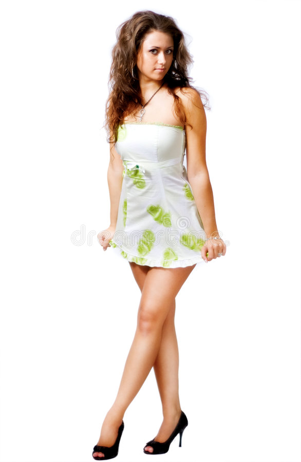 Corpo da mulher 'sexy' isolado no branco fotos de stock
