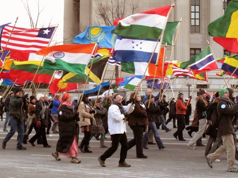 Corpo de paz março imagens de stock