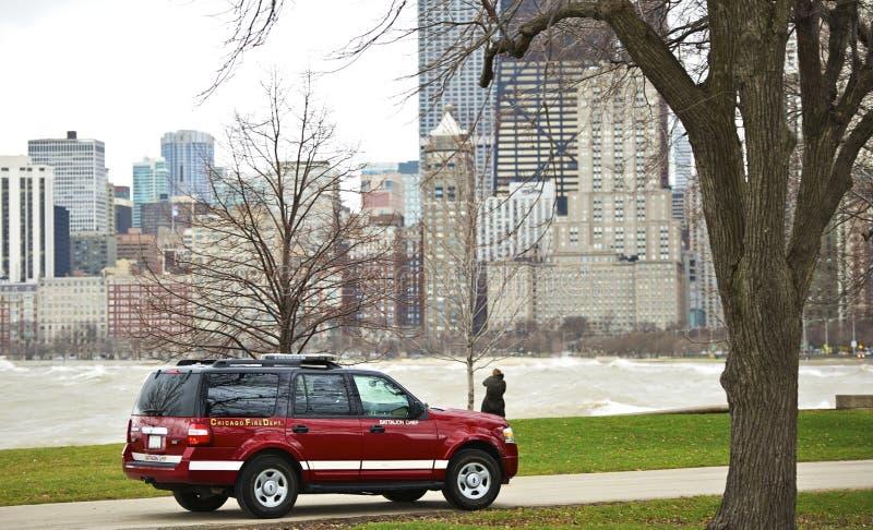 Corpo dei vigili del fuoco di Chicago fotografie stock