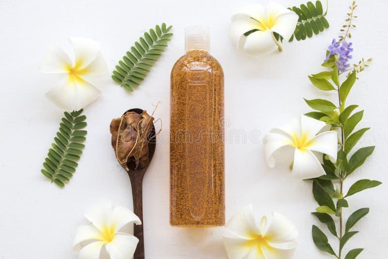 Corpo del sapone liquido lavare il tamarindo naturale dell'estratto immagine stock libera da diritti