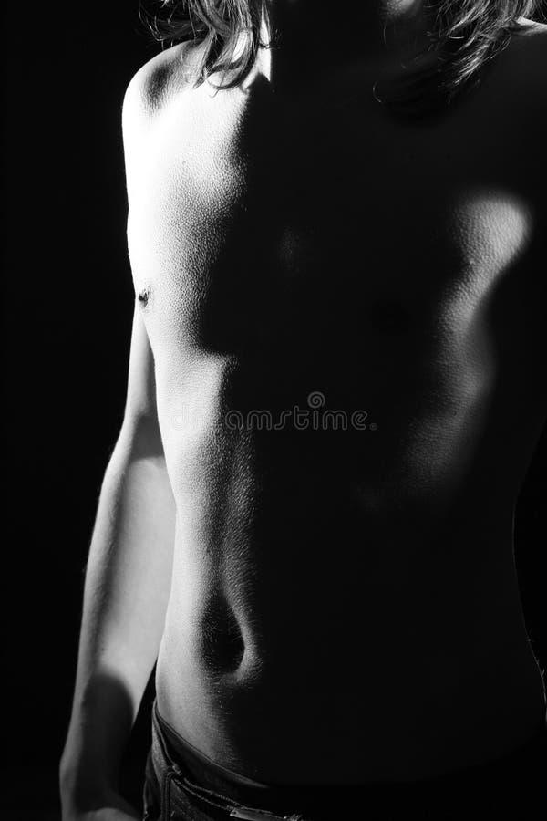 Corpo dell'uomo nudo fotografia stock