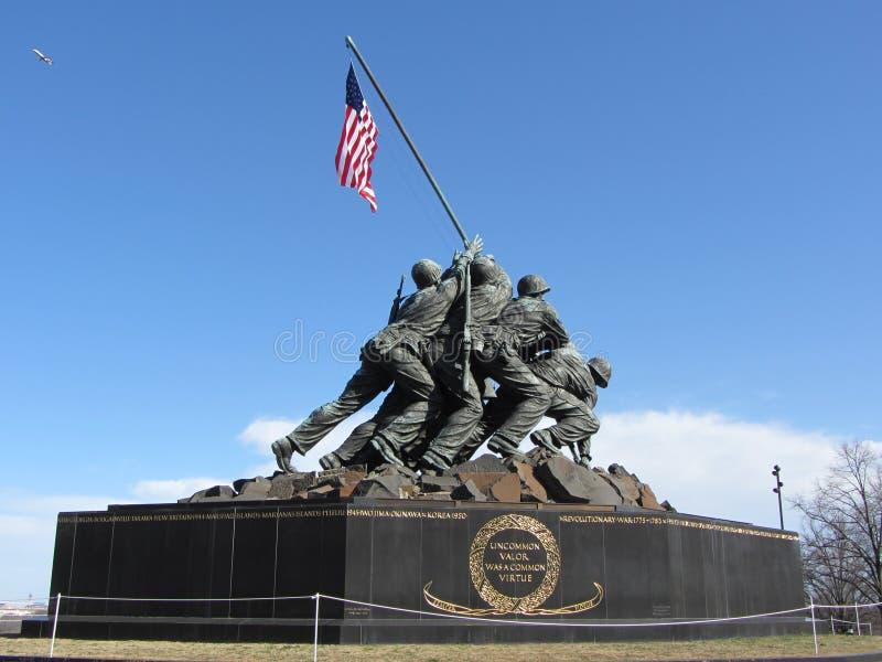 Corpo della Marina commemorativo fotografia stock