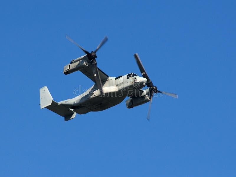 Corpo della Marina degli Stati Uniti del Osprey V-22 fotografia stock libera da diritti